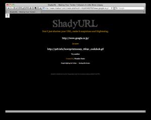 ShadyURL result
