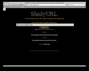 Shady URL short